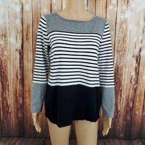 Cable & Gauge Women's Sweater Size M Striped